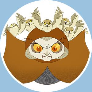 マカ吹替:おばあちゃん/マカ 磯辺万沙子 フクロウの魔女。 監督:トム... より、YEBISU